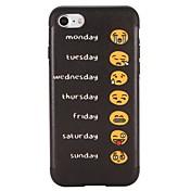 Etui Til Apple iPhone 7 Plus iPhone 7 Mønster Bakdeksel Ord / setning Tegneserie Myk TPU til iPhone 7 Plus iPhone 7 iPhone 6s Plus iPhone
