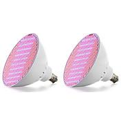 2pcs 18W 2500lm E27 Voksende lyspære 500 LED perler SMD 2835 Blå Rød 85-265V