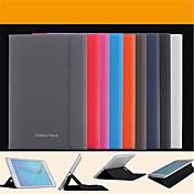Etui Til Samsung Galaxy Tab A 9.7 Tab En 8,0 Samsung Galaxy Etui med stativ Flipp Magnetisk Heldekkende etui Helfarge PU Leather til