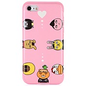 Etui Til Apple iPhone 7 Plus iPhone 7 Mønster Bakdeksel Hjerte Tegneserie Myk TPU til iPhone 7 Plus iPhone 7 iPhone 6s Plus iPhone 6s