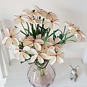 1 rama pe flecos iris hierba flores artificiales decoración del hogar