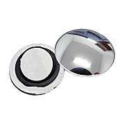 ziqiao PC 1 espejo retrovisor coche pequeño espejo redondo de gran angular superficie convexa visual ajustable con base giratoria