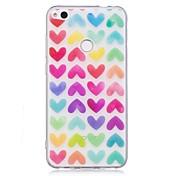 Caso para huawei p10 lite p10 caso patrón corazón tpu material imd artesanía caso de teléfono móvil para huawei p8 lite (2017)