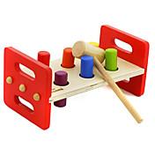 Martilleo / Golpe de juguete Juguetes Juguete para Bebés y Niños Pequeños Juguete Educativo Juguetes Rectangular De madera Niños Niñas