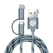 USB 2.0 Kabel, USB 2.0 to Micro USB 2.0 Lightning Kabel Hann - hann 1.5M (5ft)