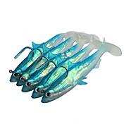 5 pcs Cebos Vinilos Jerkbaits Shad Jig Head Señuelos blandos / Vinilos Gel de Sílice Plástico blando Plomo Pesca de Mar Pesca de