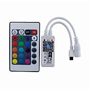 Mini ir 24 control de wifi clave controlador de aplicaciones de teléfono inteligente con ios android (rgbw)
