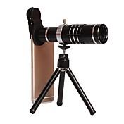 iphone / samsung / htc 및 기타 스마트 폰용 iphone18x 줌 망원 렌즈 용 범용 클립 식 카메라 렌즈 키트