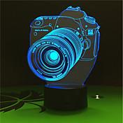 1set 3D nattlys Usb Batteri Fargeskiftende Dekorativ
