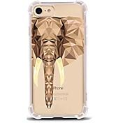 Funda Para Apple iPhone X / iPhone 8 Ultrafina / Transparente / Diseños Funda Trasera Elefante Suave TPU para iPhone X / iPhone 8 Plus / iPhone 8