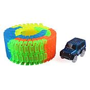 Kit de Bricolaje Pista del coche de carril Carros de juguete Coche clásico Juguetes Novedad Noctilucente Manualidades Niño Piezas
