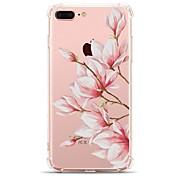 Funda Para Apple iPhone X / iPhone 8 Transparente / Diseños Funda Trasera Flor Suave TPU para iPhone X / iPhone 8 Plus / iPhone 8