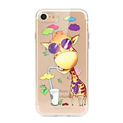 Funda Para Apple iPhone X iPhone 8 Transparente Diseños Funda Trasera Caricatura Suave TPU para iPhone X iPhone 8 Plus iPhone 8 iPhone 7