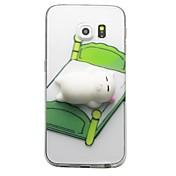 케이스 제품 Samsung Galaxy S8 Plus S8 투명 패턴 DIY 지저분한 뒷면 커버 고양이 3D카툰 캐릭터 소프트 TPU 용 S8 S8 Plus S7 edge S7 S6 edge plus S6 edge S6 S6 Active S5