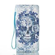 케이스 제품 Samsung Galaxy Note 8 지갑 카드 홀더 스탠드 플립 패턴 마그네틱 풀 바디 해골 하드 인조 가죽 용 Note 8