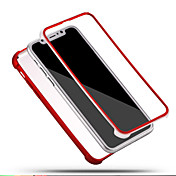 Para iPhone X iPhone 8 iPhone 8 Plus Carcasa Funda Antigolpes Cuerpo Entero Funda Color sólido Suave Silicona para Apple iPhone X iPhone