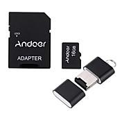 andoer 16gb clase 10 tarjeta de memoria tf lector de tarjetas lector de tarjetas lector de tarjetas usb flash drive para cámaras de coche