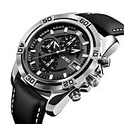 9156 la manera de los hombres del skmei se divierte los relojes militares los relojes del cuarzo del mens del cuero del cronógrafo