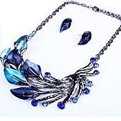 Mujer Conjunto de joyas - Forma de Hoja Importante Incluir Morado / Verde / Azul Para Fiesta Regalo / Pendientes / Collare