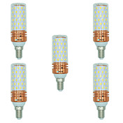 BRELONG® 5pcs 16W 1300 lm E14 Bombillas LED de Mazorca T 84 leds SMD 2835 Blanco Cálido Blanco Color de fuente de luz dual AC 220-240V