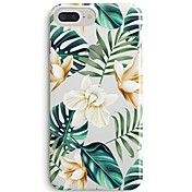 Funda Para Apple iPhone X iPhone 8 Ultrafina Transparente Diseños Funda Trasera Flor Árbol Suave TPU para iPhone 8 Plus iPhone 8 iPhone