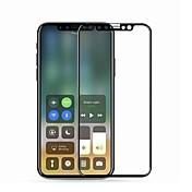Protector de pantalla Apple para iPhone X Vidrio Templado 1 pieza Anti-Arañazos Borde Curvado 2.5D Dureza 9H