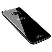 케이스 제품 Samsung Galaxy S8 Plus S8 울트라 씬 뒷면 커버 한 색상 하드 안정된 유리 용 S8 S8 Plus