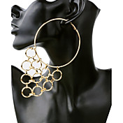 Mujer De Gran Tamaño Pendients de aro - De Gran Tamaño Importante Dorado Aretes Para Casual