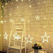 3m 12 luces de la estrella luces decorativas de la Navidad de Halloween luces de tira festivas con las estrellas (220v)