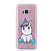 Funda Para Samsung Galaxy S8 Plus S8 Transparente Diseños Funda Trasera Unicornio Suave TPU para S8 Plus S8 S7 edge S7
