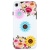Etui Til Apple iPhone 6 iPhone 6 Plus iPhone 7 Plus iPhone 7 Mønster GDS Bakdeksel Blomsternål i krystall 3D-tegneseriefigur Myk TPU til