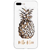 Funda Para Apple iPhone X iPhone 8 iPhone 8 Plus iPhone 6 iPhone 6 Plus iPhone 7 Plus iPhone 7 Diseños En Relieve Funda Trasera Palabra /