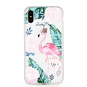 Funda Para Apple iPhone 7 iPhone 6 En Relieve Diseños Cubierta Trasera Flamenco Animal Caricatura Suave TPU para iPhone X iPhone 8 Plus