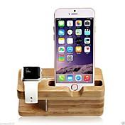 sostenedor del soporte del cargador de madera para el reloj de manzana y iphone 6 más / 6 / 5s / 5