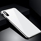 Funda Para Apple iPhone X iPhone 8 Antigolpes Cubierta Trasera Color sólido Dura Vidrio Templado para iPhone X iPhone 8 Plus iPhone 8