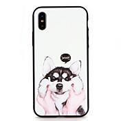 Etui Til Apple iPhone 6 iPhone 7 Mønster Inngravert Bakdeksel Hund Tegneserie Hard PC til iPhone X iPhone 8 Plus iPhone 8 iPhone 7 Plus