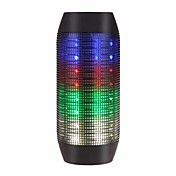 Flashing Speaker Utendørs Bærbar LED Lys Innbygd Mikrofonen Support Minnekort Super Bass Bluetooth 2.1 3,5 mm AUX Trådløse