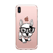 Funda Para Apple iPhone X iPhone 8 Transparente Diseños Funda Trasera Perro Suave TPU para iPhone X iPhone 8 Plus iPhone 8 iPhone 7 Plus