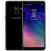 Skjermbeskytter Samsung Galaxy til A8 2018 PET Herdet Glass 1 stk Front & Back & Camera Lens Protector Skjermbeskyttelse Anti-Refleksjon