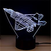 1 juego Luz de noche LED Alivio del estrés y la ansiedad Color variable Con puerto USB Luz decorativa Alimentado por USB Toca 7-Color