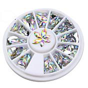 Foil Glitter Bling Bling Moda Alta calidad Diario Nail Art Design