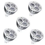 5pcs 6W 450 lm GU5.3(MR16) LED 스팟 조명 MR16 3 LED가 고성능 LED 장식 따뜻한 화이트 차가운 화이트 DC 12