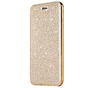 Etui Til Samsung Galaxy S8 Plus S8 Kortholder Belegg Flipp Heldekkende etui Helfarge Glimtende Glitter Hard PU Leather til S8 Plus S8 S7