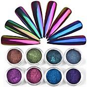 1 pcs Pudder / Glitter Powder / Nail Glitter Klassisk Nail Art Design Daglig
