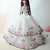 Søtt Kjole Til Barbiedukke polyester Kjole Til Jentas Dukke