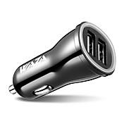 Salida dual del cargador USB del coche 24v dual 5v 4.8a para el iphone x, iphone 8, ipad, Samsung, lg, nexus, pixel, htc, xiaomi, bq etc.