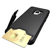 Funda Para Samsung Galaxy S9 S9 Plus Soporte de Coche Antigolpes con Soporte Funda Trasera Color sólido Dura ordenador personal para S9