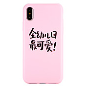 Funda Para Apple iPhone X iPhone 8 Diseños Funda Trasera Palabra / Frase Suave TPU para iPhone X iPhone 8 Plus iPhone 8 iPhone 7 Plus