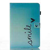 Etui Til Samsung Galaxy Tab A 10.1 (2016) Lommebok med stativ Flipp Mønster Auto Sove/Våkne Heldekkende etui Ord Hard PU Leather til Tab