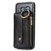 Funda Para Samsung S8 S7 Soporte de Coche Cartera Funda de Cuerpo Entero Color sólido Dura piel genuina para S8 Plus S8 S7 edge S7 S6